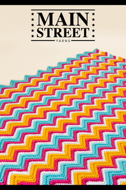 South Beach Afghan in Main Street Yarns Shiny + Soft - Downloadable PDF