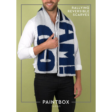 Rallying Reversible Scarf in Paintbox Yarns Simply DK - Downloadable PDF