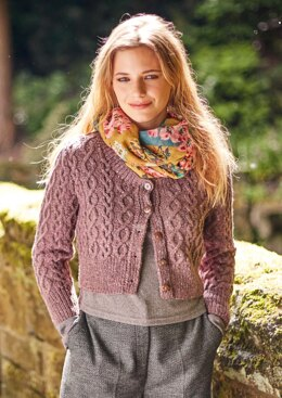 Skipness Cardigan in Rowan Cashmere Tweed  - Downloadable PDF