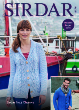 Cardigans in Sirdar No.1 Chunky  - 8176 - Downloadable PDF