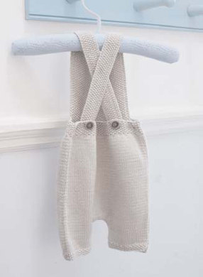 Florence Dungarees in Debbie Bliss Baby Cashmerino - CMC12