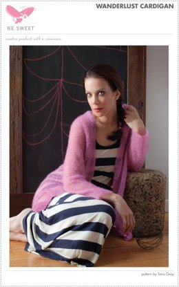 Wanderlust Cardigan in Be Sweet Extra Fine Mohair