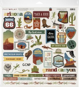 """Photoplay Paper PhotoPlay Collection Pack 12""""X12"""" - National Parks Grand Canyon"""