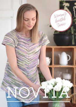 Women's Knitted Tunic in Novita Nalle Taika - 35 - Downloadable PDF