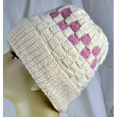 Checkerboard Slouch Hat Knitting Pattern By Misssetters