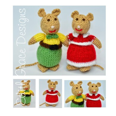 Knitted Mice Toy Knitting Pattern