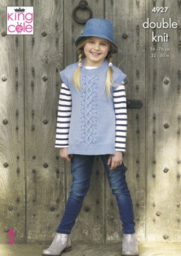 Girls' Tabards in King Cole Majestic DK - 4927 - Downloadable PDF