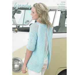 Open Back Sweater in Wendy Supreme Cotton DK - 5770