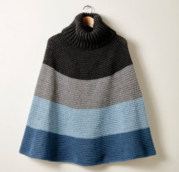 Cozy Cowl Cape in Caron Simply Soft and Simply Soft Heathers - Downloadable PDF