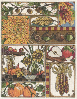 Janlynn Corporation Autumn Montage Cross Stitch Kit - 28cm x 35.5cm