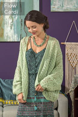 Flow Cardigan in Universal Yarn Finn - Downloadable PDF
