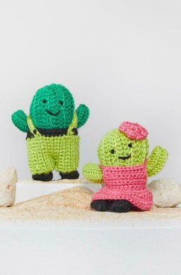 Agave & Aloe Crochet Cactus in Red Heart Amigurumi - LM6292 - Downloadable PDF