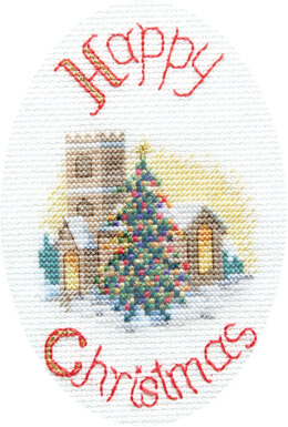 Derwentwater Designs Midnight Mass Greeting Card Cross Stitch Kit - 12.5cm x 18cm