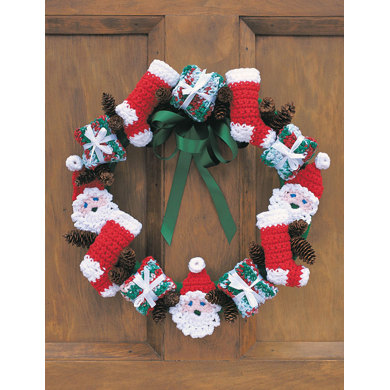 Merry Christmas Wreath in Lily Sugar 'n Cream Solids