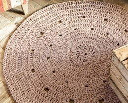 Round Rug in Hoooked Zpagetti - Downloadable PDF