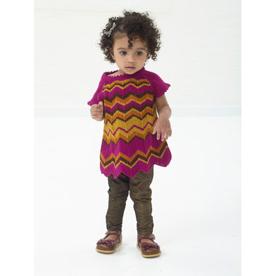 Sweet Zigzag Tunic in Lion Brand Vanna's Glamour - L10682
