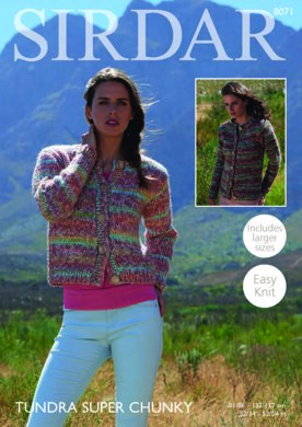 a76e4ae810db Cardigans in Sirdar Tundra Super Chunky - 8071 - Downloadable PDF