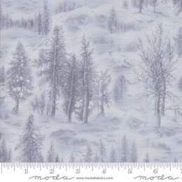 Moda Fabrics Forest Frost Glitter II Winter Metallic Snowy Village Grey