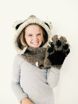 Bennett the Bear Hooded Scarf