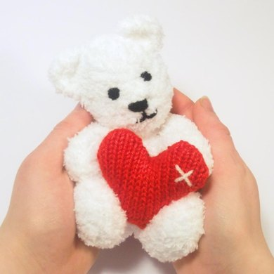 Little Valentines Teddy Bear Knitting Pattern By Claire Fairall