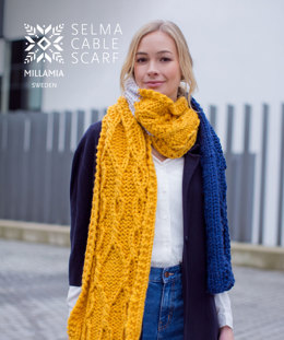 MillaMia Naturally Soft Super Chunky Selma Cable Scarf 9 Ball Project Pack