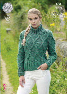 Sweater & Slipover in King Cole Big Value Super Chunky - 4706 - Leaflet