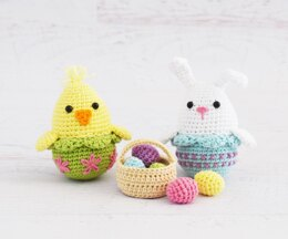 Easter Chick and Bunny Eggs