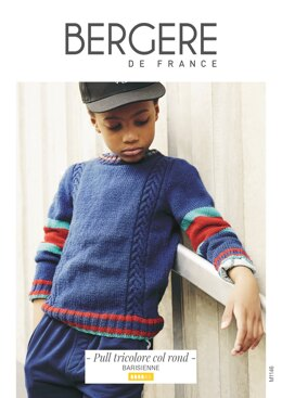 Boy Sweater in Bergere de France Barisienne - M1146 - Downloadable PDF
