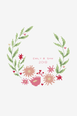 Open Wreath in DMC - PAT0716 - Downloadable PDF