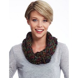 Ridge Stitch Cowl in Bernat Spectrum - Downloadable PDF