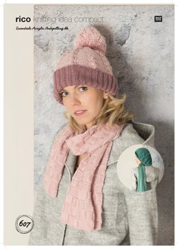 Scarves, Hat and Beret in Rico Essentials Acrylic Antipilling DK - 607 - Downloadable PDF
