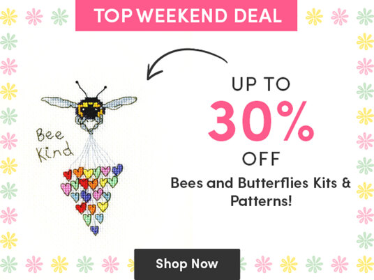 Up to 30 percent off bees & butterflies kits & patterns!