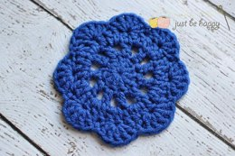 Just Be Happy Doily Coasters
