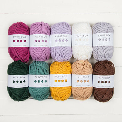 Paintbox Yarns Wool Mix Super Chunky 10 Ball Color Pack