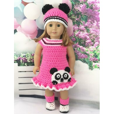 """18"""" Doll Pink Panda Outfit"""