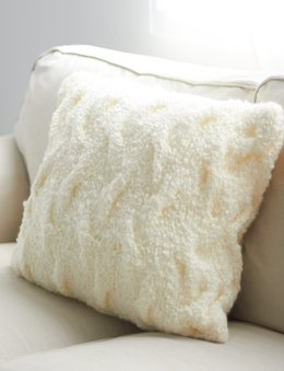 Shadow Cables Pillow in Bernat Soft Boucle
