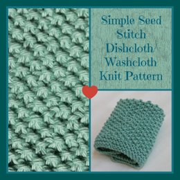 Simple Seed Stitch Dishcloth