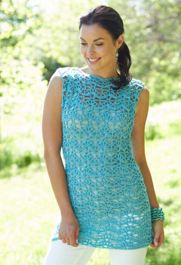 Crochet Tunic in Caron Simply Soft Light - Downloadable PDF