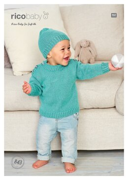 Sweater and Hat in Rico Baby So Soft DK - 843 - Downloadable PDF