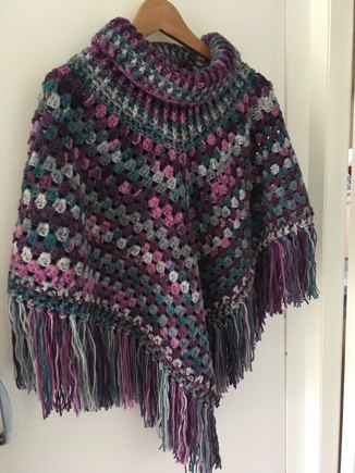 Cowl Neck Poncho Crochet Project By Sarah M Lovecrochet