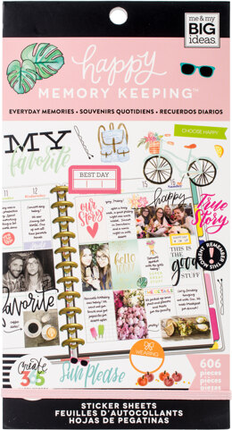 Me & My Big Ideas Happy Planner Sticker Value Pack - Everyday Memories, 606/Pkg