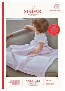 Blanket in Sirdar Snuggly 100% Cotton - 5272 - Downloadable PDF