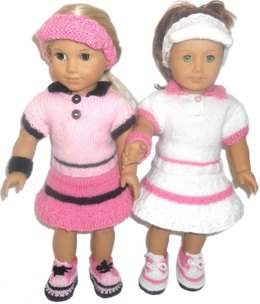 Tennis time for ag , gotz and other 18'' dolls