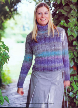 Skinny Ribbed Sweater in Noro Kochoran