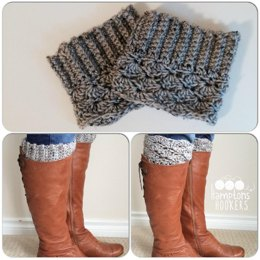 Reversible Ribbed/Scalloped Boot Cuffs Pattern