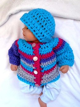 858 Baby Sweater Set