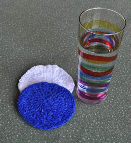 Crocheted Coasters in Crystal Palace Yarns Cotton Chenille
