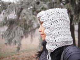 Very winter cable hood hat