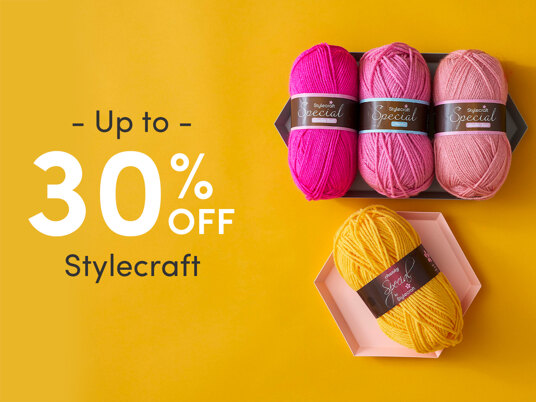 Up to 30 percent off Stylecraft!
