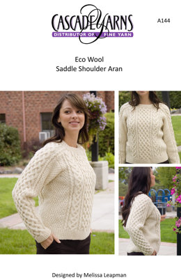 Saddle Shoulder Aran in Cascade Ecological Wool - A144